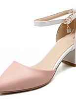 Chaussures Femme-Extérieure / Bureau & Travail / Habillé-Bleu / Rose / Blanc-Gros Talon-Talons-Talons-Similicuir