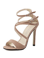 Women's Shoes  Stiletto Heel  / Open Toe Sandals Wedding / Office & Career / Party & Evening / Dress Black / Almond