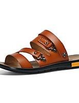 Zapatos de Hombre-Sandalias-Exterior / Casual / Deporte-Nappa Leather-Negro / Marrón