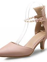Zapatos de mujer-Tacón Stiletto-Tacones-Tacones-Exterior / Oficina y Trabajo / Vestido-Semicuero-Azul / Rosa / Beige