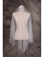 Wedding Veil One-tier Elbow Veils Cut Edge