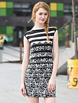 Zishangbaili® Women's Bateau Sleeveless Knee-length Dress-G06