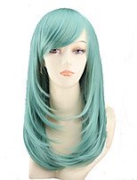 COS Color Cartoon Wig Long Pear Flower Has A Long Roll of Mint Green  Wig Sell Like Hot Cakes
