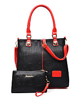 Women-Casual / Office & Career / Shopping-PU-Tote-White / Blue / Red / Black