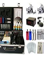 Basekey Tattoo Kit 2 Guns JHK052 Machine With Power Supply Grips Cleaning Brush Ink Needles