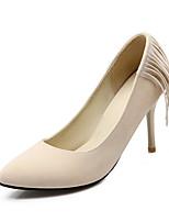 Women's Shoes Fleece Spring / Summer / Fall Heels Wedding / Dress / Casual / Party & Evening Stiletto Heel Black / Yellow / Red / Beige
