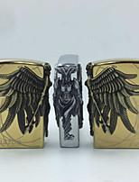 nueva keroseno encendedores de metal de cobre guerrero de estimulación creativa