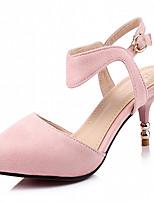 Chaussures Femme-Extérieure / Bureau & Travail / Habillé-Noir / Bleu / Rose-Talon Aiguille-Talons-Talons-Similicuir