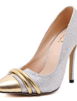 Women's Shoes Leatherette Stiletto Heel Heels Heels Party & Evening Gold