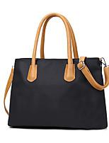 Women PU Weekend Bag Shoulder Bag-Brown / Black