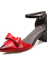 Women's Shoes Patent Leather Chunky Heel Heels / D'Orsay & Two-Piece / Pointed Toe Sandals / Heels Outdoor / Dress