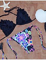 Due Pezzi-Nuoto / Immersioni / Spiaggia / Surf-Per donna-Compressione / Materiali leggeri-Bianco / Nero