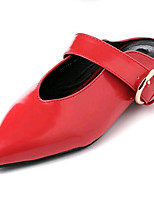 Women's Shoes Leatherette Summer Comfort Outdoor / Casual Flat Heel Black / Red