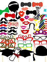 46PCS Graduation Card Paper Photo Booth Props Party Fun Favor