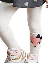 Girl's Cotton Summer Embroider Little Fox Leggings