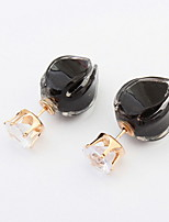 Mix Colors Flower Pierced Stud Earrings for Lovely Women Korean Fashion