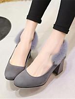 Zapatos de mujer-Tacón Robusto-Tacones-Tacones-Oficina y Trabajo / Vestido-Sintético-Negro / Rojo / Gris