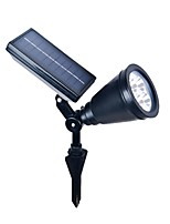 4LED ABS Outdoor Solar Power Spotlight Landscape Spot Light Garden Lawn Flood Lamp