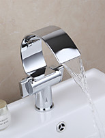 PHASAT® Vessel Two Handles One Hole in Chrome Bathroom Sink Faucet