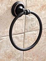 Anillo para Toalla / Gadget para Baño,Contemporáneo Bronce con Baño en Aceite Montura en Pared