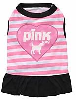 Katzen / Hunde Kleider / Kleidung / Kleidung Rosa / Purpur Sommer / Frühling/Herbst Blumen / Pflanzen Modisch-Pething®
