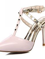 Chaussures Femme-Mariage / Bureau & Travail / Soirée & Evénement-Noir / Rose / Blanc / Argent-Talon Aiguille-Talons-Talons-Similicuir