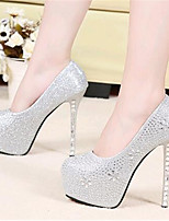 Women's Shoes Leatherette Stiletto Heel Heels Heels Wedding / Party & Evening Silver / Gold