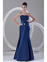 Formal Evening Dress-Royal Blue Trumpet/Mermaid Strapless Floor-length Taffeta