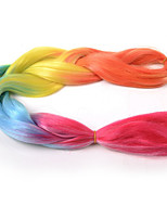 1-12packs Multi-color Braiding Hair High Temperature 100g/pcs Synthetic Braiding Hair Extensions
