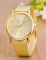 Жен. Модные часы Наручные часы Кварцевый сплав Группа Повседневная Золотистый