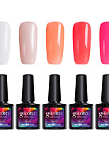 Modelones 5Pcs Gelpolish 10ml Soak Off Gel Polish Nail Art UV LED Lamp Long-lasting Varnish Manicure C106