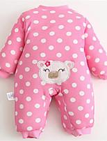Girl's Pink Overall & Jumpsuit,Dot / Cartoon Cotton Winter