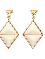 New Arrivals Fashion Women Black and Beige Double Triangle Alloy Drop Earrings