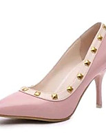 Women's Shoes Leatherette Stiletto Heel Heels Heels Party & Evening Pink / White / Gray
