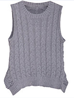 Girl's Gray Vest Cotton Summer