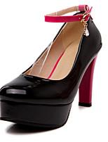 Scarpe Donna-Scarpe col tacco-Ufficio e lavoro / Formale / Casual-Tacchi-A stiletto-Finta pelle-Nero / Rosa / Tessuto almond