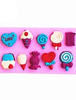 Ice cream Shaped Silicone Fondant Cake Cake Chocolate Silicone Molds,Decoration Tools Bakeware