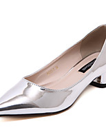 Women's Shoes Patent Leather Chunky Heel Pointed Toe / Closed Toe Heels Wedding / Party & Evening / DressBlue / Pink /