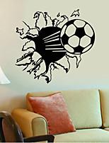 Formas / Deportes / 3D Pegatinas de pared Calcomanías 3D para Pared,vinyl 57*71cm