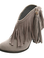 Women's Shoes Suede Chunky Heel Bootie Boots