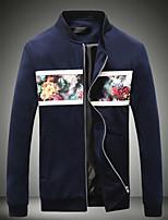 Men's Long Sleeve Jacket,Cotton Casual Floral