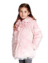 Girl's Pink Jacket & Coat Cotton Winter