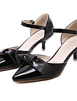 Women's Shoes Leatherette Low Heel Heels Heels Outdoor / Casual Black / Pink