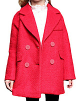 Girl's Jacket & Coat,Polyester Spring / Fall Blue / Pink / Red