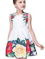 Girl's Dress,Cotton / Polyester Summer White