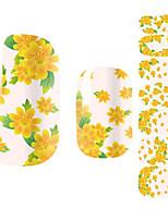 14Pcs/Sheet Nagel-Kunst-Aufkleber 3D Nails Nagelaufkleber Cartoon Design / Blume / lieblich Make-up kosmetische Nail Art Design