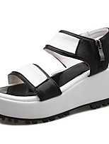 Women's Shoes Platform Platform / Creepers / Open Toe Sandals Dress / Casual Black / Silver