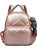 Women PU Bucket Backpack / School Bag / Travel Bag-White / Pink / Black