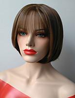 cheveux courts synthétiques droite de couleur européenne dame ombre populaire