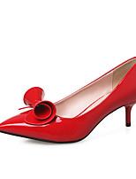 Chaussures Femme-Mariage / Habillé / Décontracté-Noir / Rose / Rouge / Amande-Talon Aiguille-Talons / Confort / Bout Pointu-Talons-Cuir